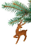 Toy golden raindeer Stock Images