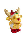 Toy of golden reindeer Stock Image