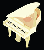 Toy grand piano. The vector image of a toy grand piano dairy colour Royalty Free Stock Image