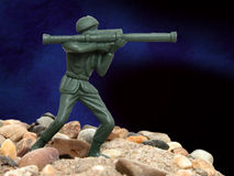 Toy Green Army Man royalty free stock photos