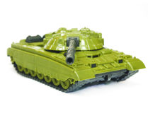 The toy green tank Stock Images
