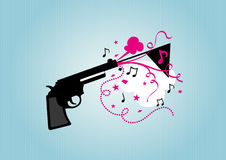 Toy gun. With celebrated element royalty free illustration