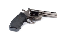 Toy gun 357 magnum revolver on white. Toy gun magnum 357 on white background royalty free stock image