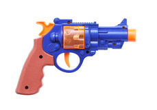 Toy gun. Plastic toy gun isolated on white background Royalty Free Stock Image