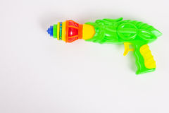 Toy gun with spinning top Stock Photos