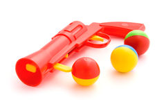 Toy gun on white background Royalty Free Stock Images