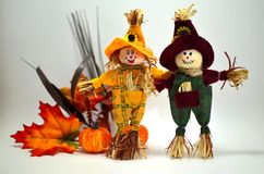 Toy Halloween Scarecrows Stockbild