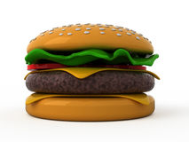 Toy hamburger Stock Photos