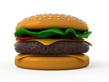 Toy hamburger. Isolated hamburger on white background Stock Photos