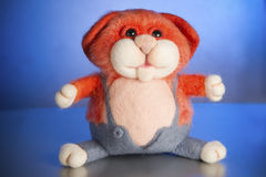 Toy hand made from felt.  Royalty Free Stock Image