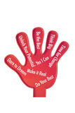 Toy Hand with Motivation. On White Background Royalty Free Stock Photos