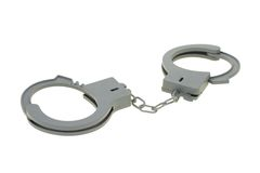 Toy handcuff Stock Images