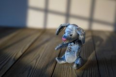 Toy hare natural background the shadow of the window royalty free stock images