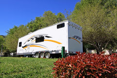 Toy Hauler RV Camping Royalty Free Stock Photography