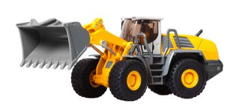 Toy heavy bulldozer Stock Images