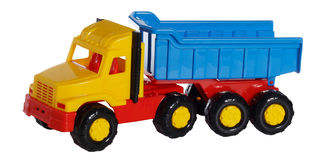 Toy heavy dumping truck Royalty Free Stock Image