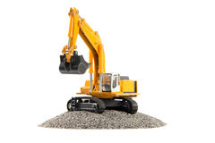 Toy heavy excavator Stock Photography