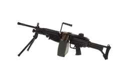 Toy heavy machine gun. A toy heavy machine gun isolated over white Stock Images