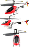 Toy Helicopter. Isolated On White Stock Image