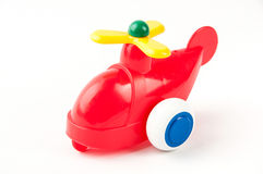 Toy helicopter. Funny red toy helicopter Stock Images