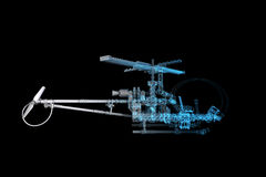 Toy Helicopter (3D xray blue) Stock Image