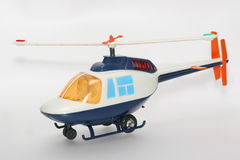 Toy helicopter from the 80's. One of the many thousand  toys my brother is collecting. Battery opperated toy from the 80's Stock Photos