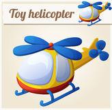 Toy helicopter. Cartoon vector illustration Royalty Free Stock Photo