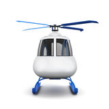 Toy helicopter isolated on white background. Front view. 3d  Royalty Free Stock Images