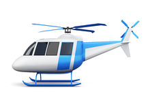 Toy helicopter isolated on white background. Side view. 3d  Stock Image