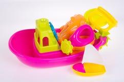 toy Het speelgoed van de strandbaby op de achtergrond royalty-vrije stock foto's