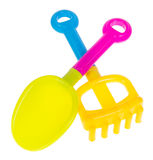 toy Het speelgoed van de strandbaby op de achtergrond stock foto's