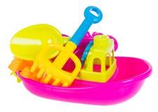 toy Het speelgoed van de strandbaby op de achtergrond royalty-vrije stock fotografie