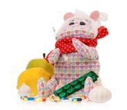 Toy hippopotamus Royalty Free Stock Images