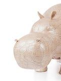 Toy hippopotamus Stock Images