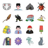 Toy, horror story and other web icon in cartoon style. travel, tourism, entertainment icons in set collection. Stock Photos