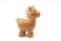 Toy Horse. Toy brown horse on a white background Stock Photos