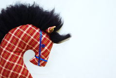 Toy horse. A homemade toy horse's head on a stick Stock Photos