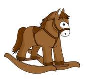 Toy horse. On the white background Stock Photos