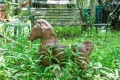 Toy Horse anziano in legno Fotografia Stock Libera da Diritti