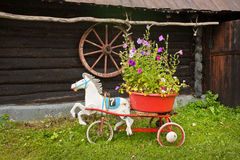 Toy horse flower decoration Stock Image