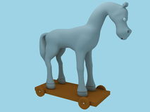 Toy Horse. Front view, created in 3d Studio Max Royalty Free Stock Photo