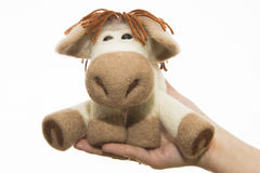 Toy horse in a gift royalty free stock image
