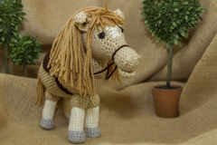 Toy Horse Handcrafted Fotografia de Stock Royalty Free