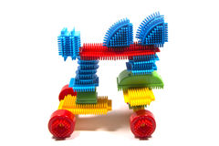 Toy horse lego. Toy horse, Trojan horse puzzle Royalty Free Stock Photography
