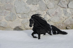 Toy Horse noir Photo stock