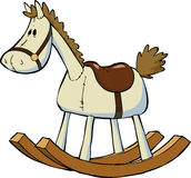 Toy horse. Toy rocking horse on a white background vector Stock Photo