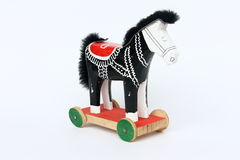 Toy horse on the wheels royalty free stock image