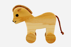 Toy horse on wheels Royalty Free Stock Photos