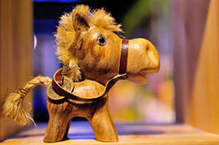 Toy horse. This wooden toy horse is very beautiful, very cute Stock Photo