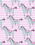 Toy horses pattern Royalty Free Stock Photography